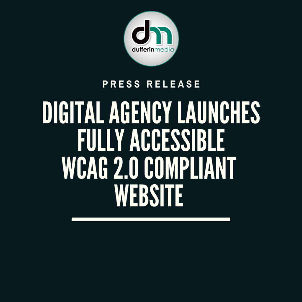 press release digital agency launches fully accessible website