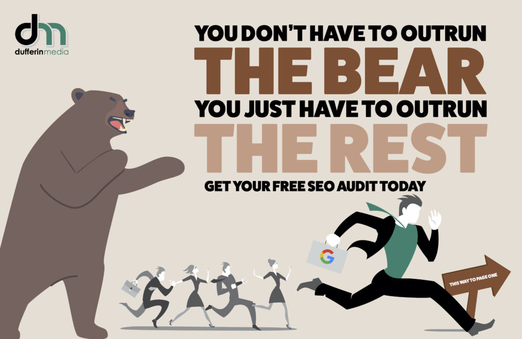 outrun the bear seo campaign