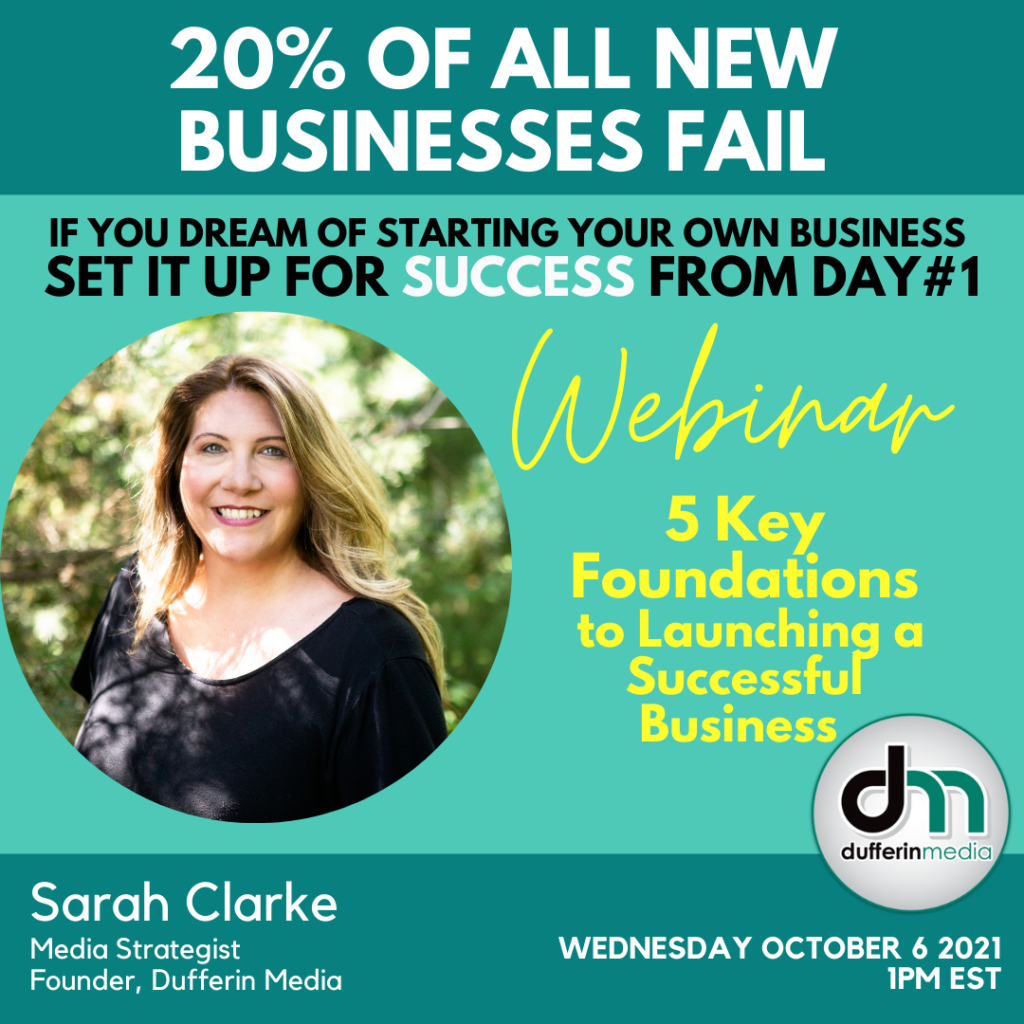foundations for launching a successful business free webinar