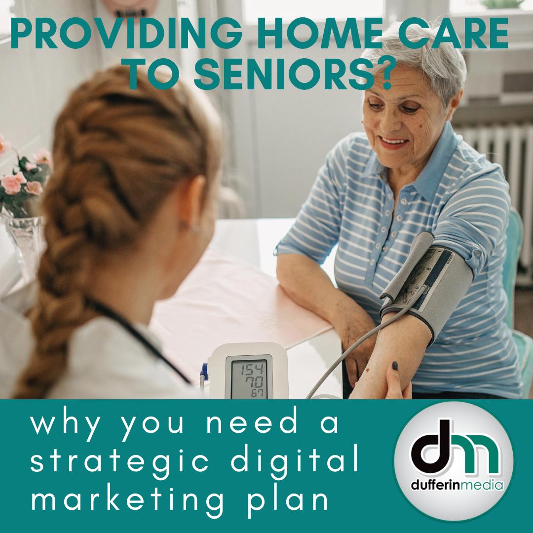 nurse taking blood pressure reading on an elderly woman